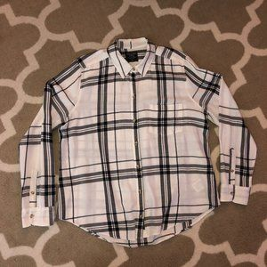 Abercrombie & Fitch White Flannel - XL
